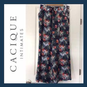 CACIQUE Intimates Wide Leg Pants